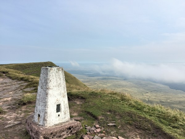 The trig point where I chose to operate from