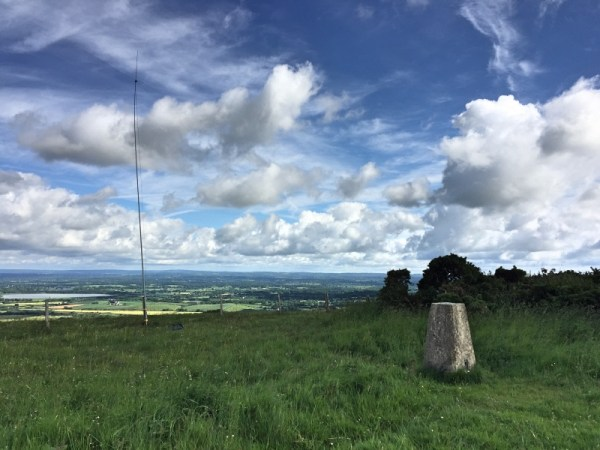 Wilimington Hill Trigpoint and inverted V dipole in background