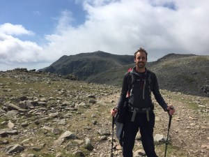 Approaching Scafell Pike