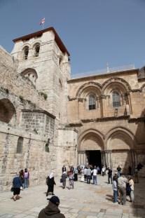 Главный вход в Иерусалимский храм Воскресения Христова