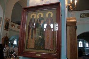 Икона св. Иоанн Кронштадтский, св. Иоанн Златоуст, св. Иоанн Рыльский