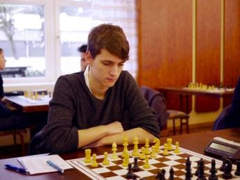 Yannick bei seiner Partie gegen Matthias