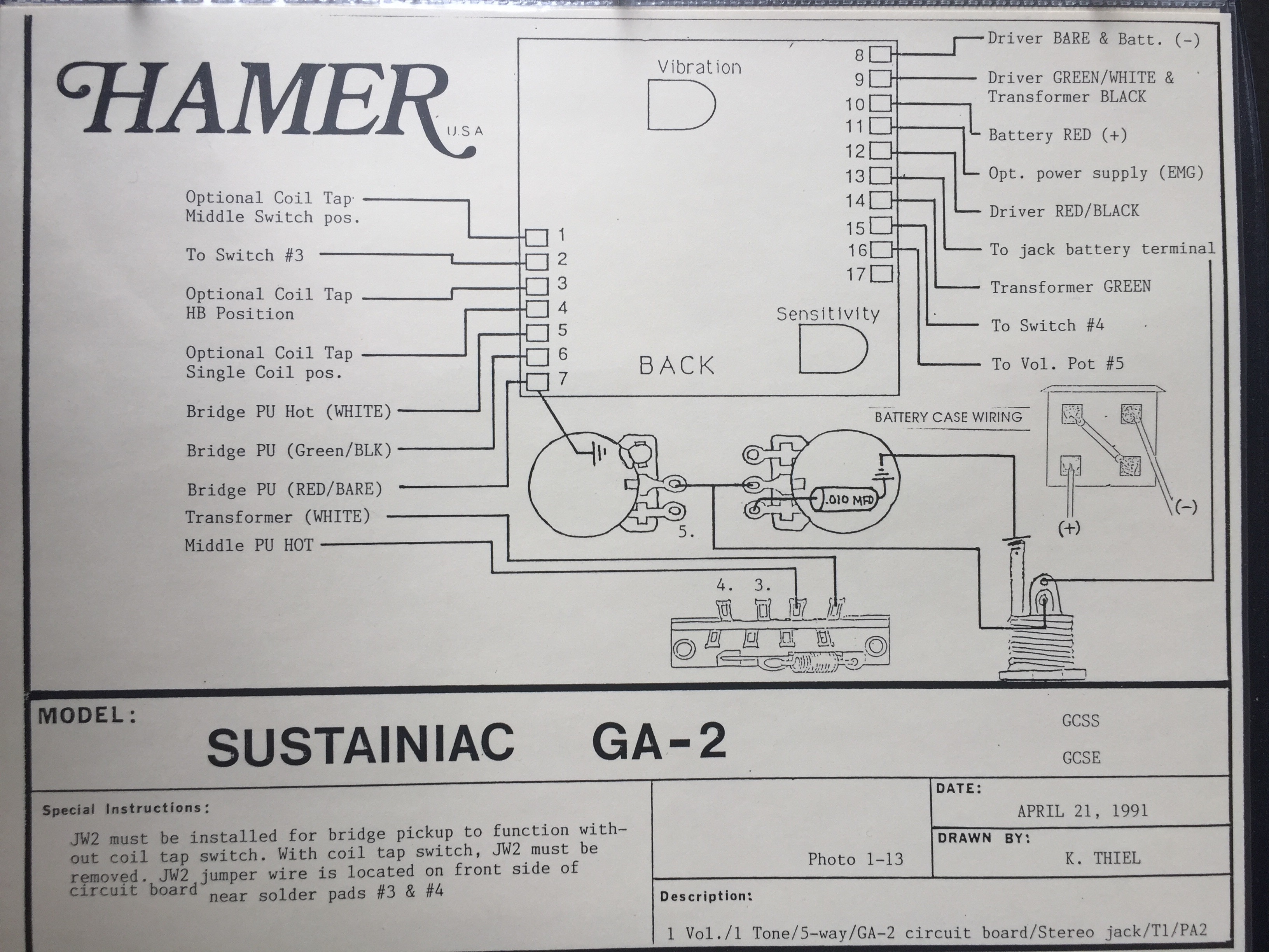 Astonishing Hamer Guitar Wiring Diagrams Wiring Database Cominyuccorg
