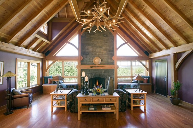 Residential Timber Home Ridgeview Timber Home Hamill Creek