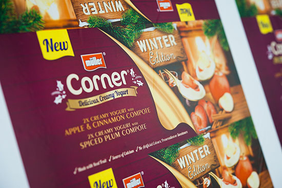 Silver for Flexo Print on Film – Surface Print Wide with the Müller Corner Winter Edition