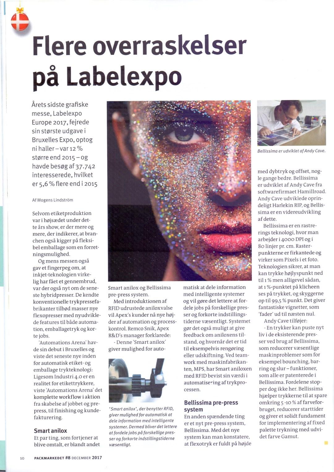 Flere overraskelser på Labelexpo   More surprises at Labelexpo - Bellissima Digitally Modulated Screening