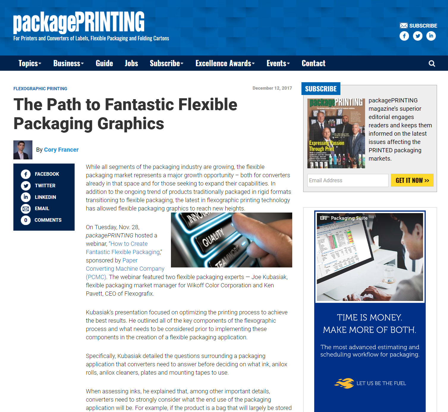 The path to fantastic flexible packaging graphics - Package Printing