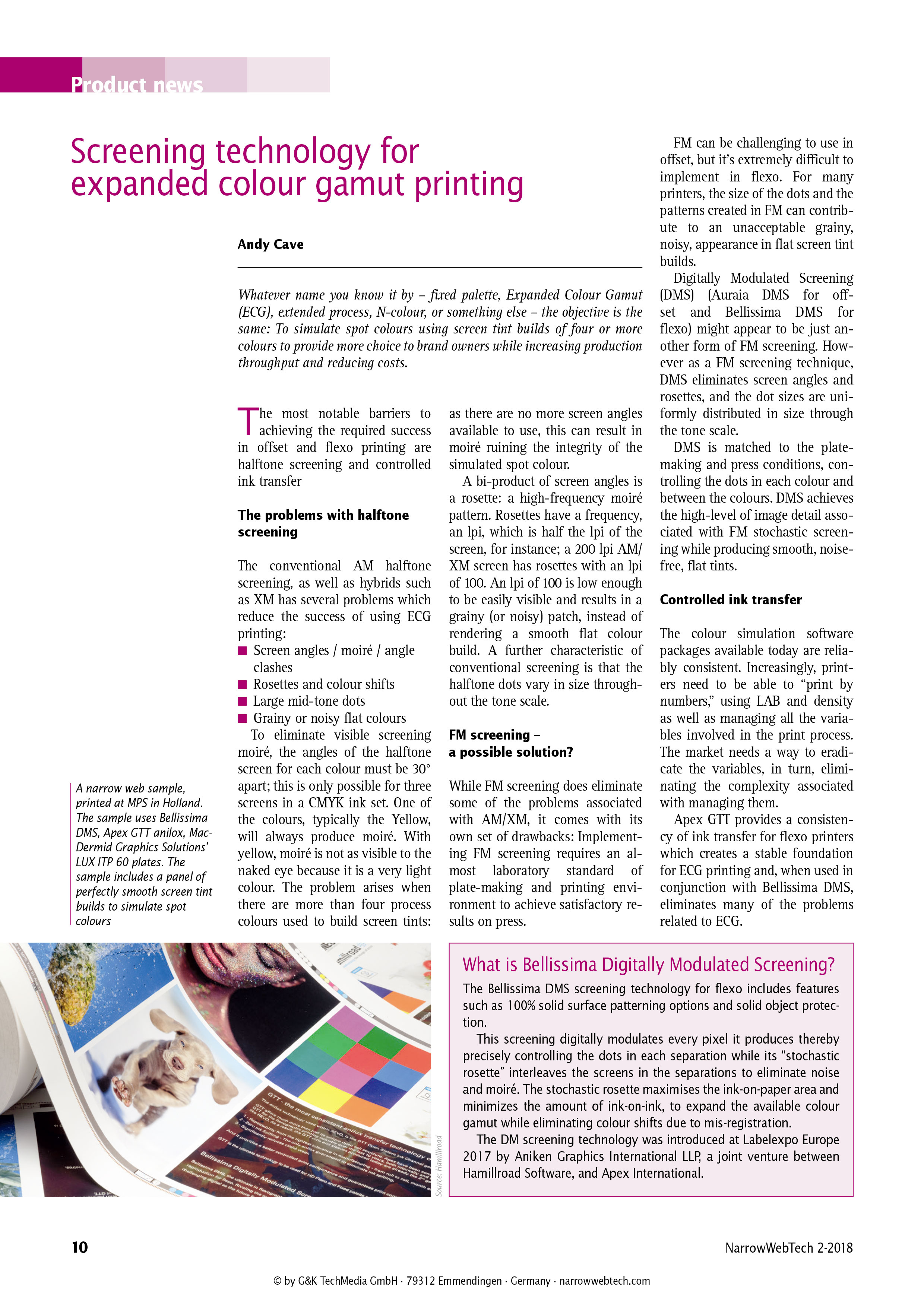 Expanded colour gamut screening for printing flexo best technology