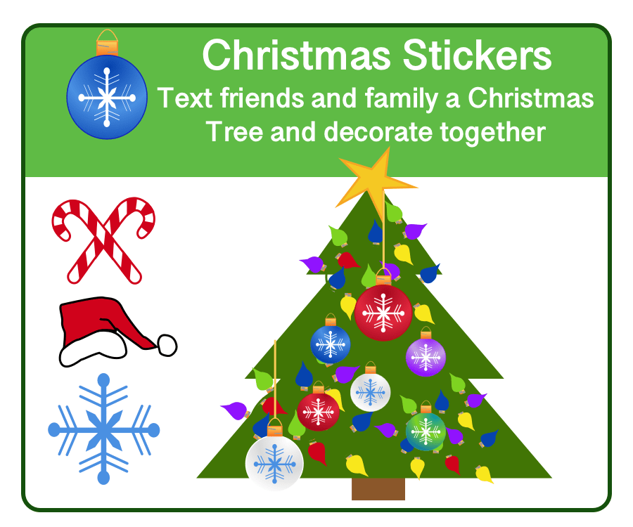 Christmas Messaging Stickers
