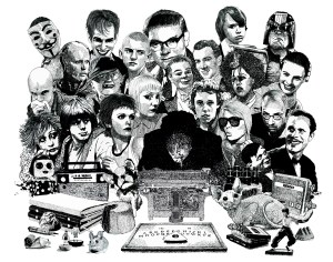 Psychic investigator Hamilton Coe surrounded by allies and adversaries. Featured characters include James Ellroy, Susan Tully from Grange Hill, Jean Seberg, TV Smith, Judge Dredd, Poly Styrene, Miranda Richardson, Jilted John, Honey Bane, Michael Redgrave as Maxwell Frere, Robocop, Debbie Harry