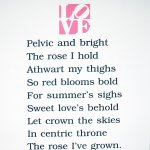 The Book of Love Poem (Pelvic and Bright), 1996