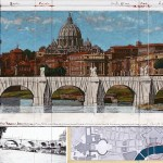 Ponte Sant' Angelo, wrapped (project for Rome)