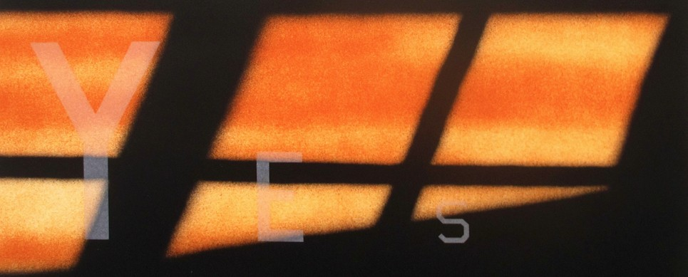 Ruscha, Screenprint, Yes, Orange, Text