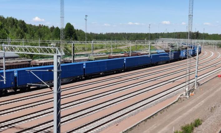 HaminaKotka Satama konttijuna Nurminen Kotolahden ratapiha