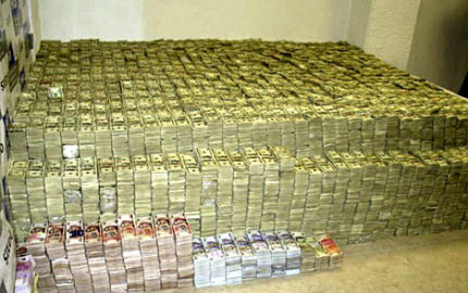 And at least one of you dreamed of sleeping on a bed made of money