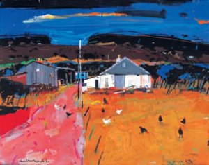 Painting of String Road Farm on the Scottish Island of Arran by Artist Hamish MacDonald