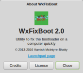 WxFixBoot's About Window