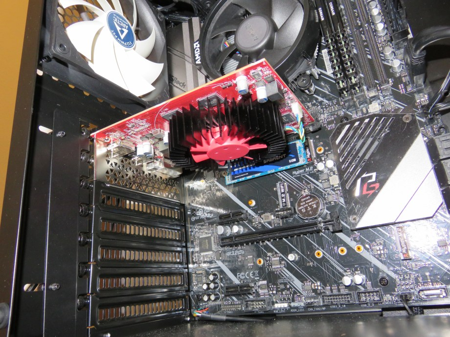The video card, installed
