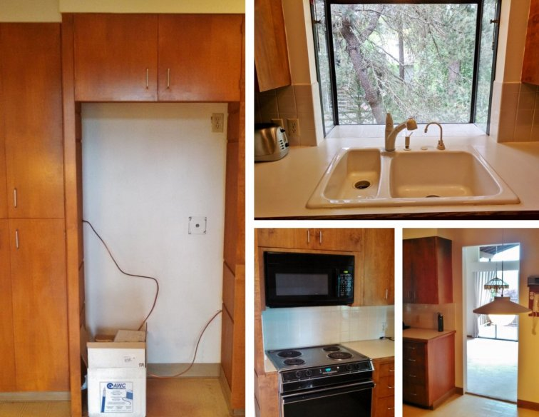 Mid-century kitchen before remodeling