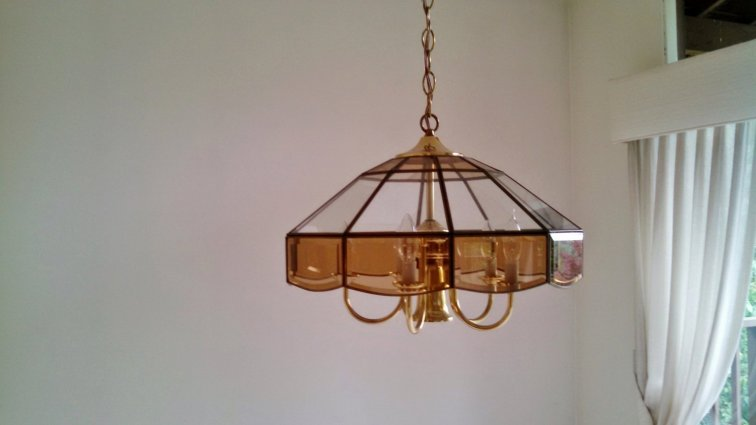 Brown stained glass light