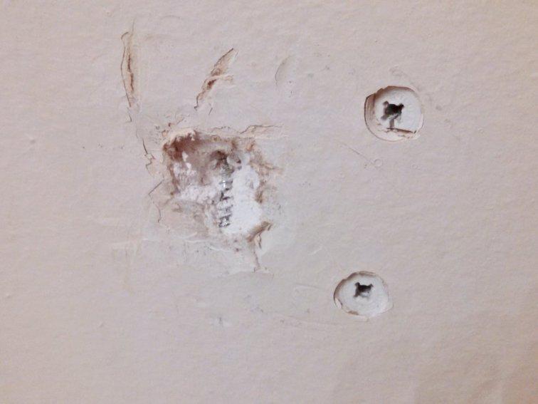Anchor wall holes