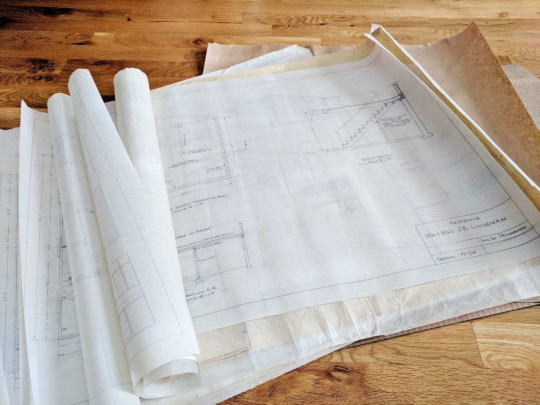 Sorting through house blueprints
