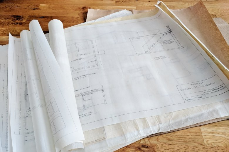 Display Your Blueprints (and Rescue Them From Storage): Your blueprints can make beautiful artwork when you take a few minutes to display them instead of letting them sit in the closet for, say, the last four and a half years. | Hammer & a Headband
