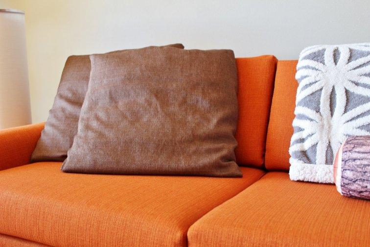 Groovy '70s brown throw pillows