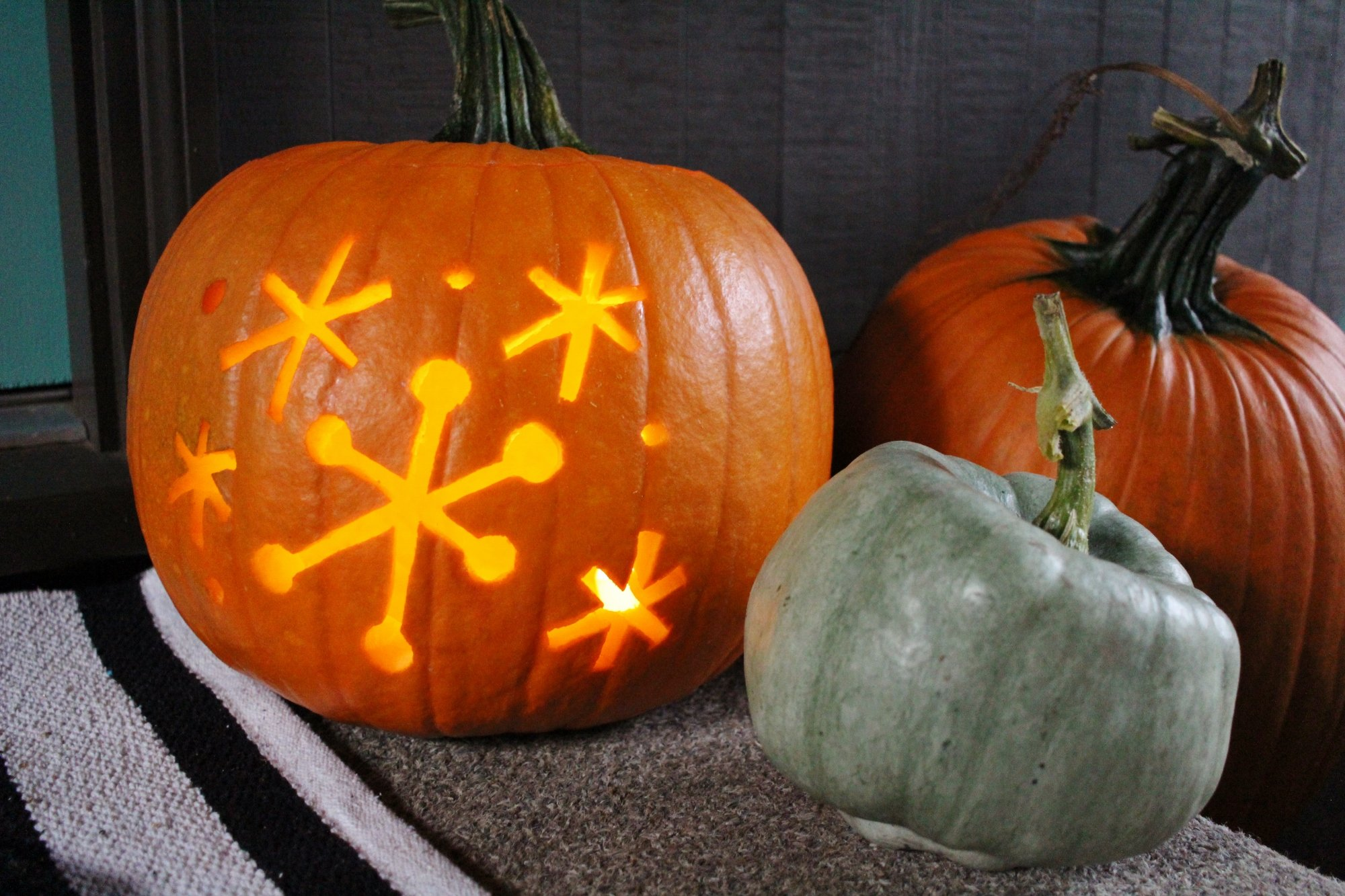 Sputnik jack o'lantern for retro Halloween