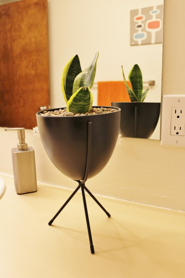 Affordable mini mid-century modern bullet planter