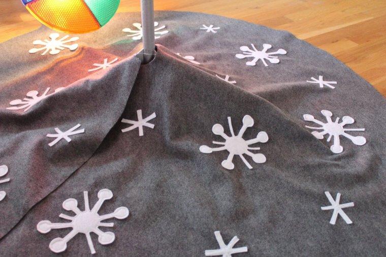 Arrange Sputniks and asterisks on your tree skirt