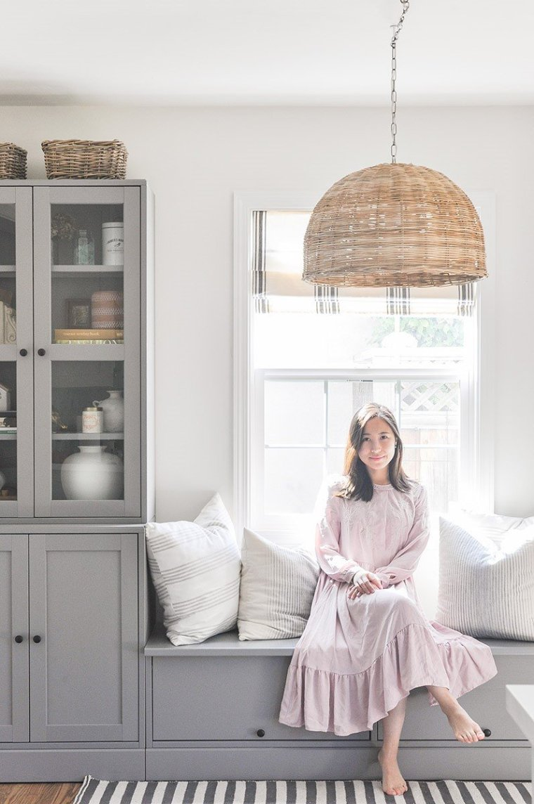 Kelin at Hydrangea Treehouse says her favorite neutral paint color is Benjamin Moore Simply White
