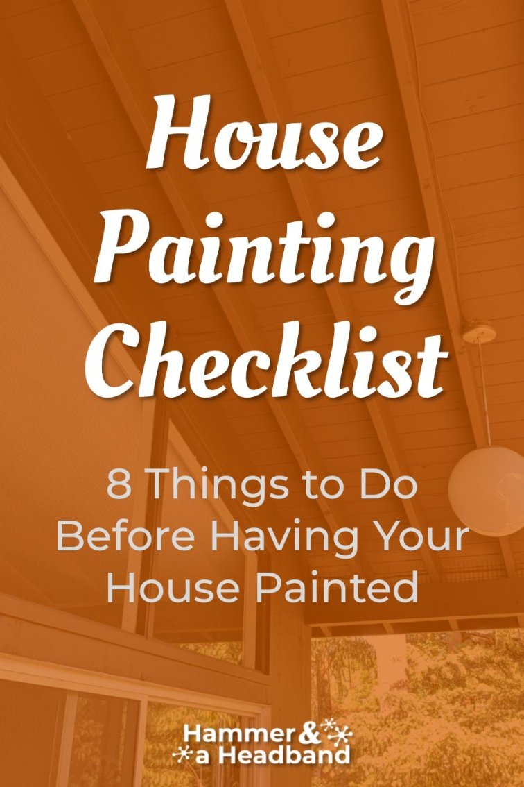 Exterior house painting checklist