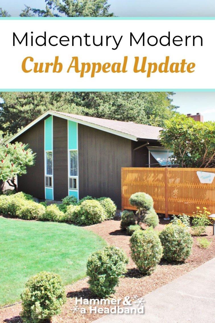 Mid-century modern curb appeal update