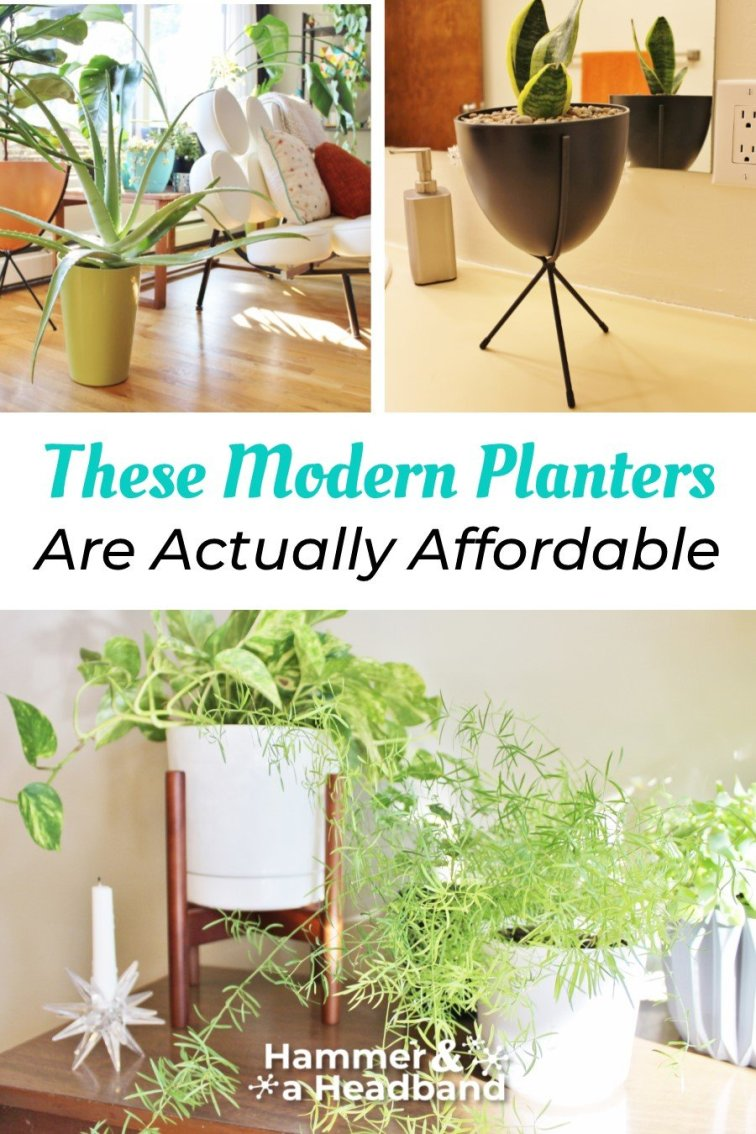 These modern planters are actually affordable