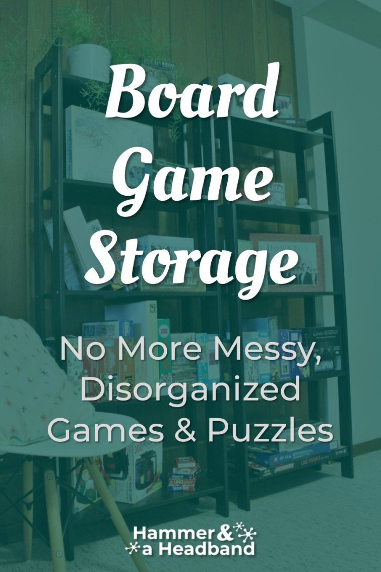Board game storage for organizing messy games and puzzles