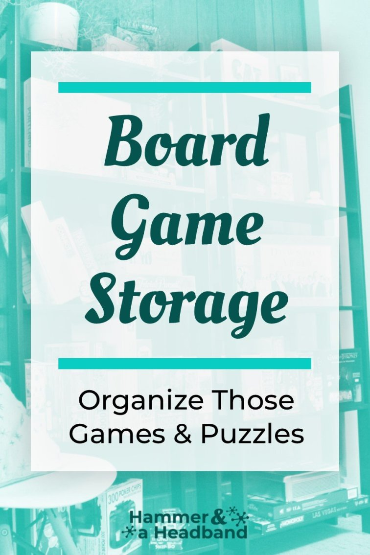 Board game storage ideas for organizing games and puzzles