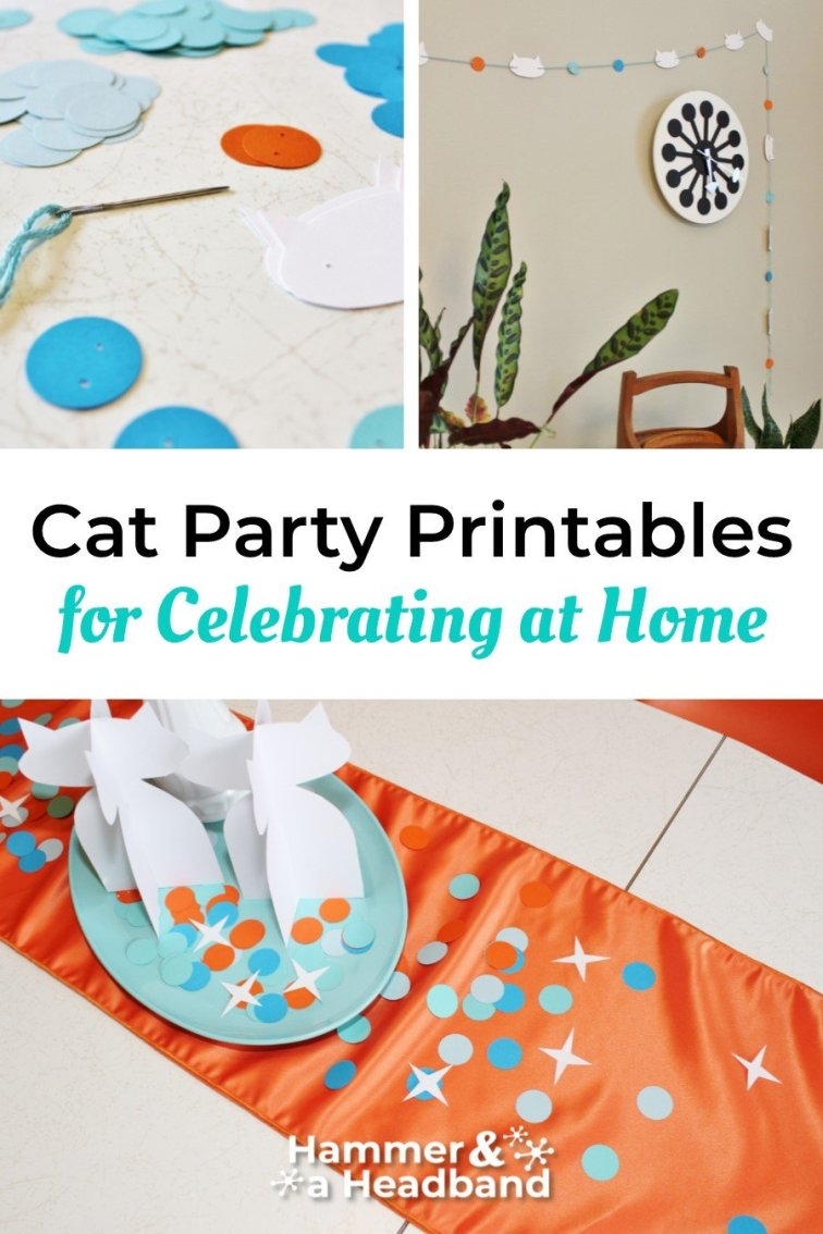 Cat party printables for celebrating at home