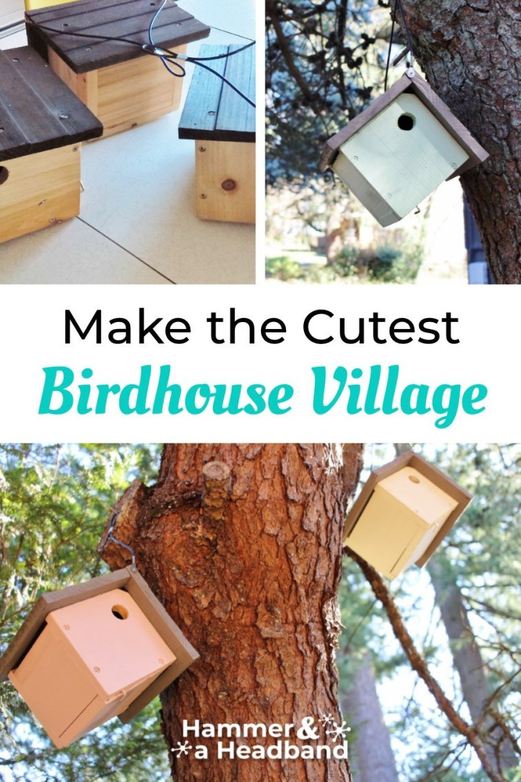 Make the cutest Scandi chalet birdhouse village