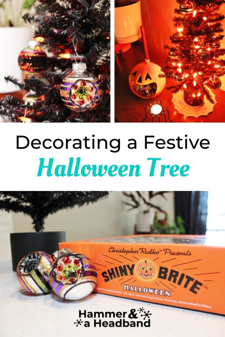 Halloween tree decorations