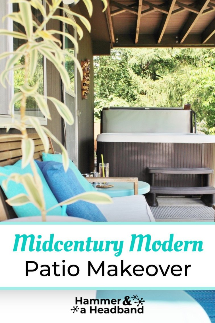 Mid-century modern patio makeover with furniture and decor