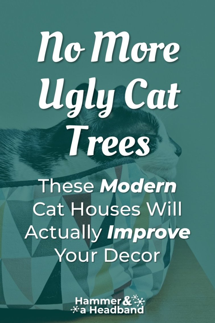 No more ugly cat trees - these modern cat houses will improve your decor