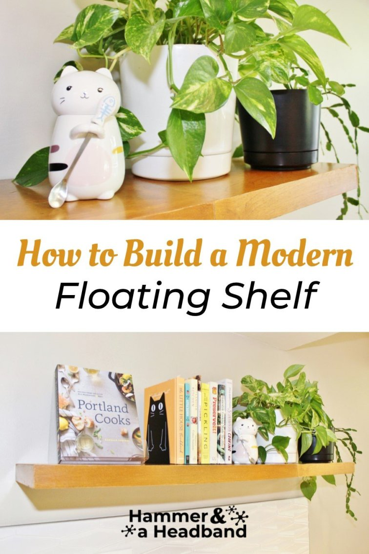 How to build a modern floating shelf