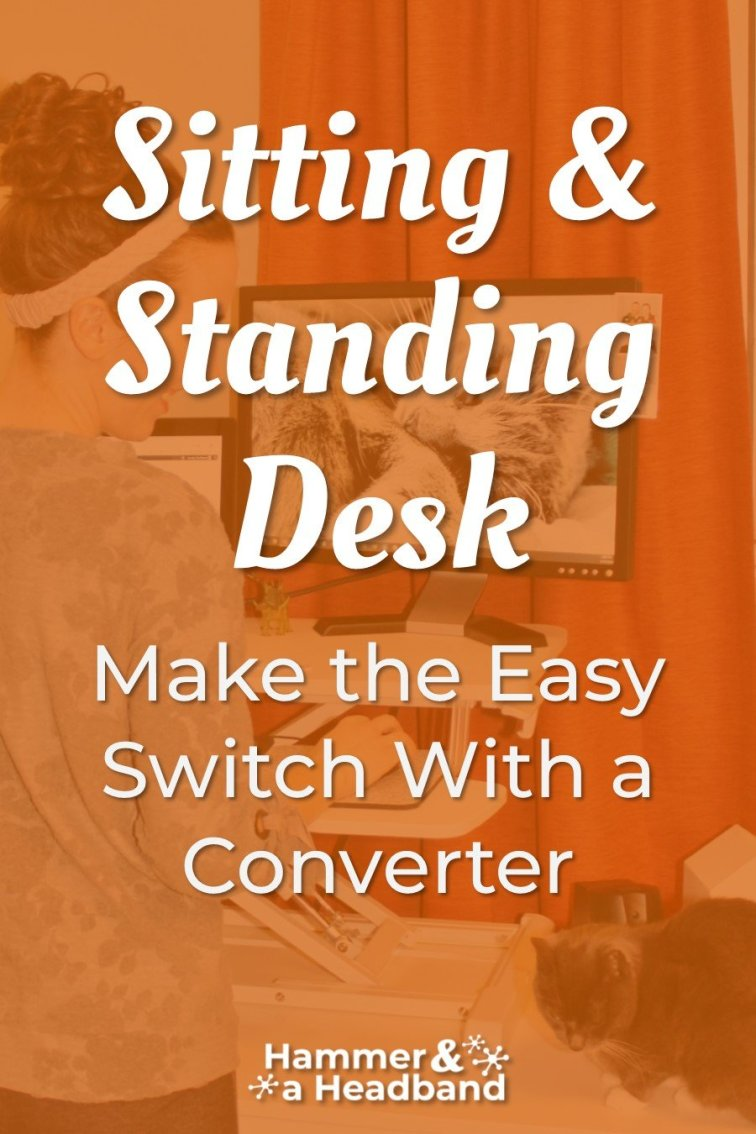 Easy switch between sitting and standing desk with a converter