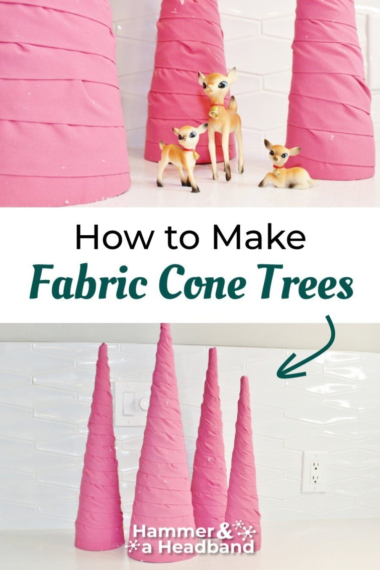 How to make fabric cone trees