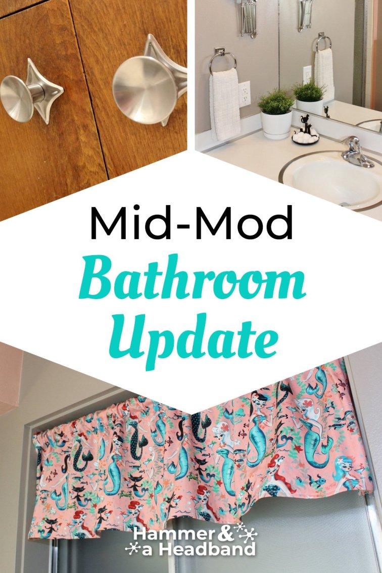 Mid-mod bathroom update