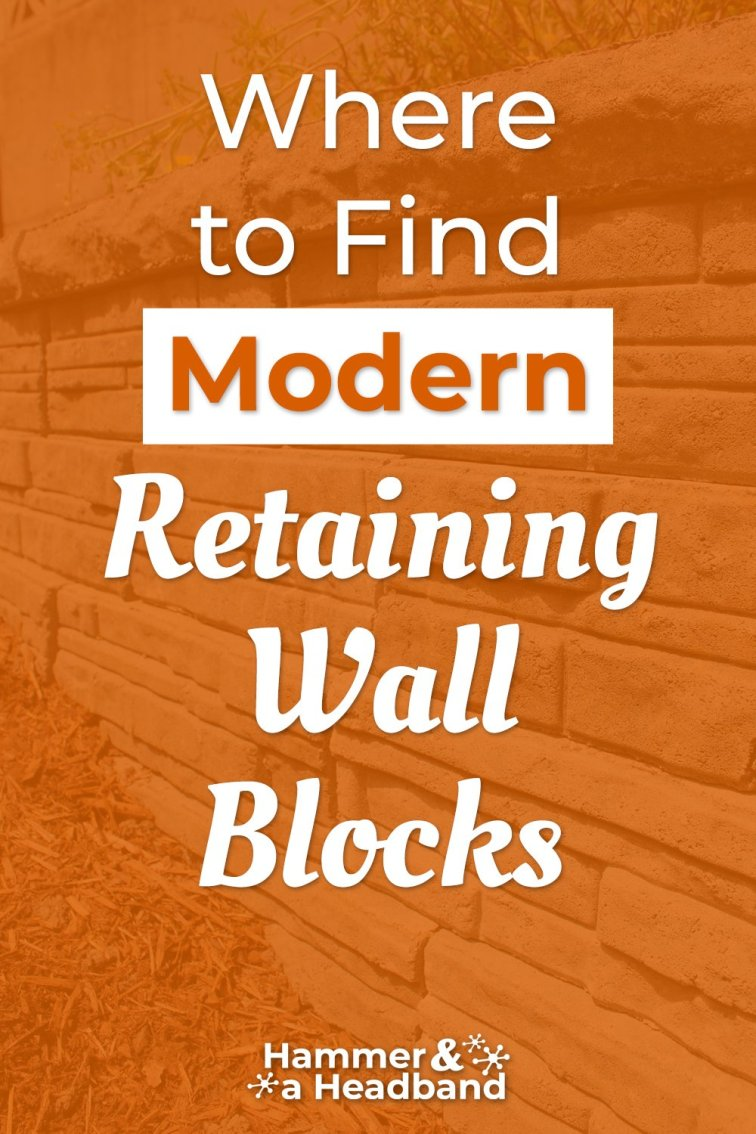Where to find modern retaining wall blocks