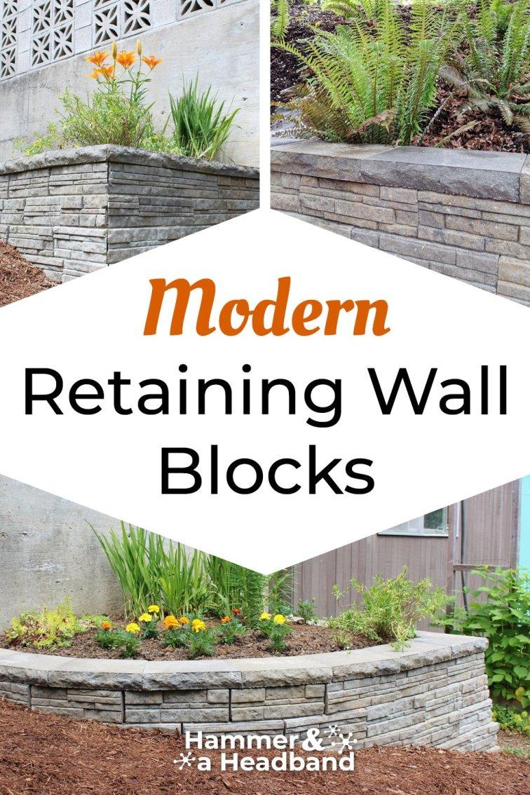 Modern retaining wall block styles and ideas