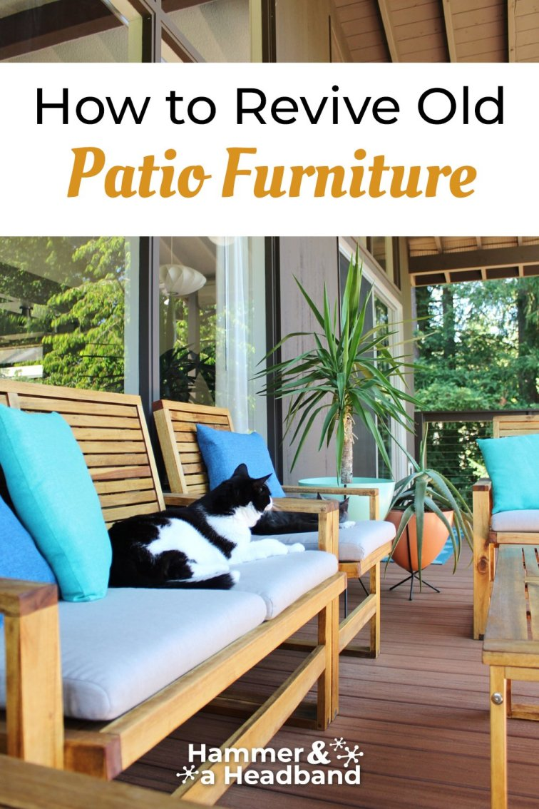 How to revive old patio furniture