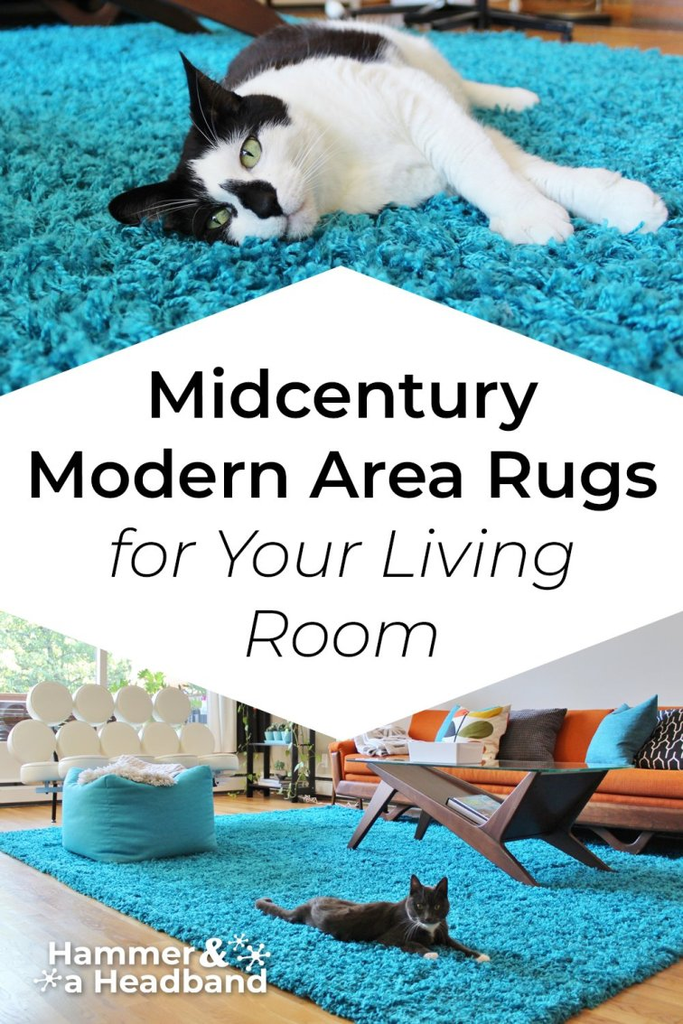 Mid-century modern area rugs for your living room